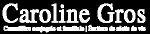 Logo Caroline Gros en Blanc